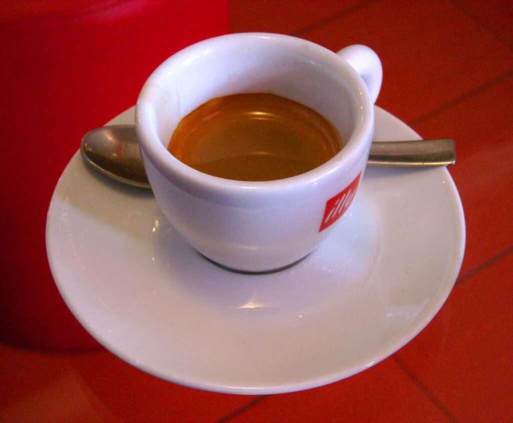 Cup of Espresso, Lemone, CC BY-SA 4.0 , via Wikimedia Commons